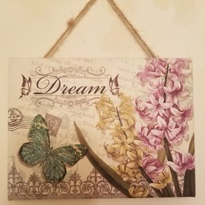 """Dream Butterfly Hanging Picture 8""""x6"""""""